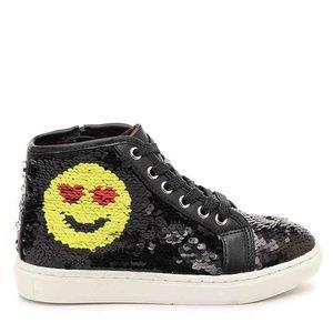 Steve Madden Kids High-Top Sequen Emoji Sneakers